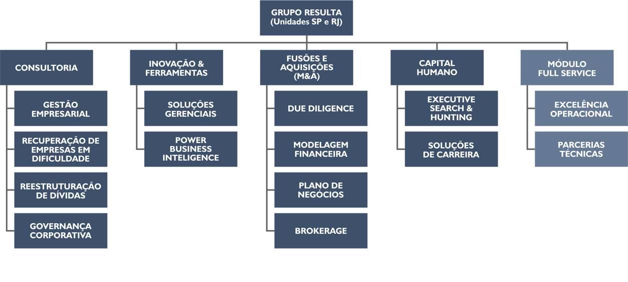 Resulta Consultoria Empresarial - Organograma da Organização